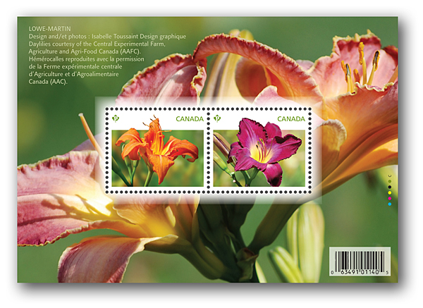 Canada stamps: daylilies